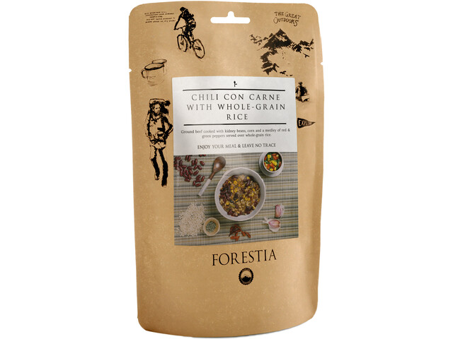 Forestia Comida Outdoor Carne 350g, Chili con Carne with Whole-Grain Rice